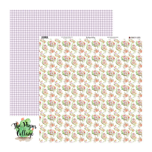 Fancy Cats Botanical Bunches Paper