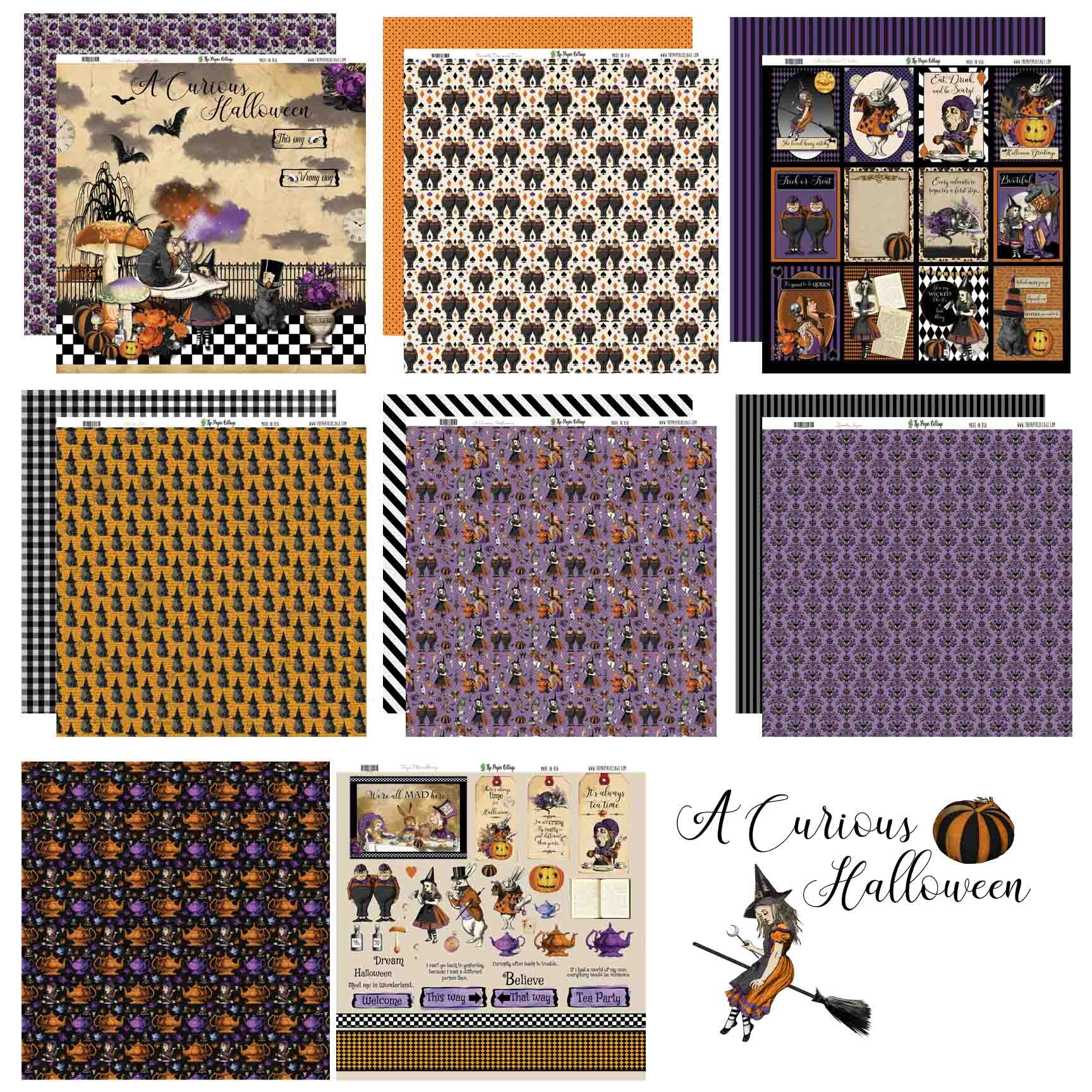 12x12 Paper - a CuRiOuS HaLLoWeeN Collection