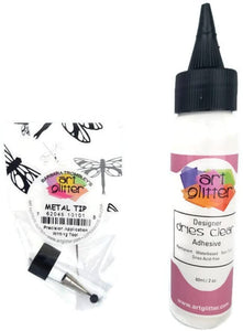 Art Glitter Glue Clear Adhesive 2oz with Metal Tip