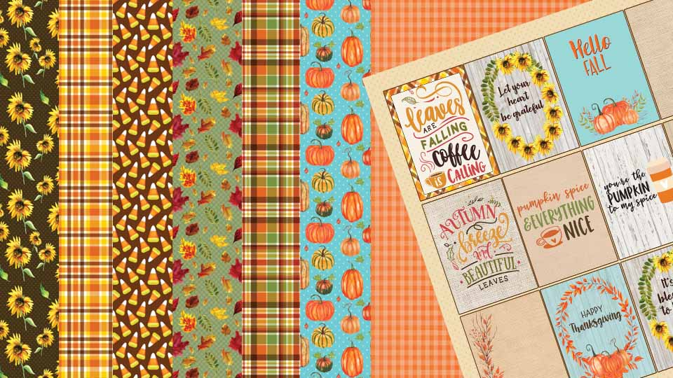 Fall Harvest Paper Collection