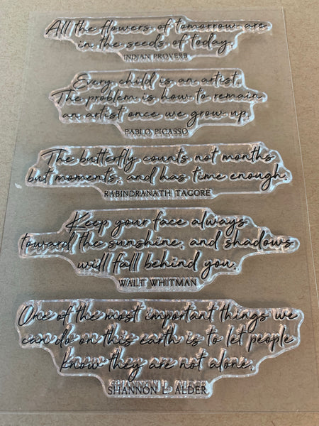 Stamp Set - Cursive Quotes