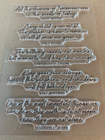 *Stamp Set - Cursive Quotes
