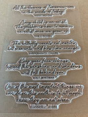 Cursive Quotes Stamp Set