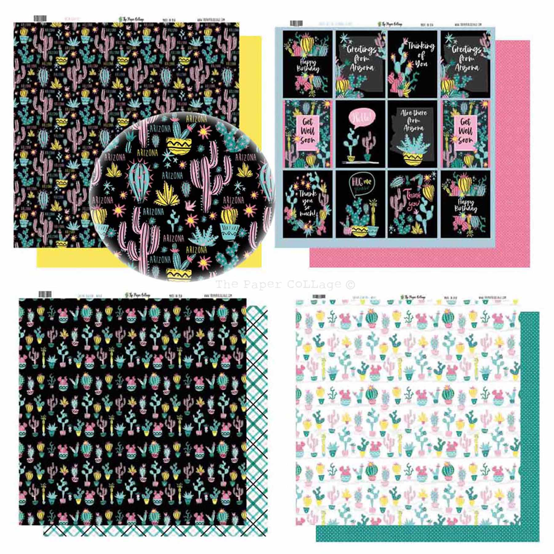 Neon Cactus Paper Collection