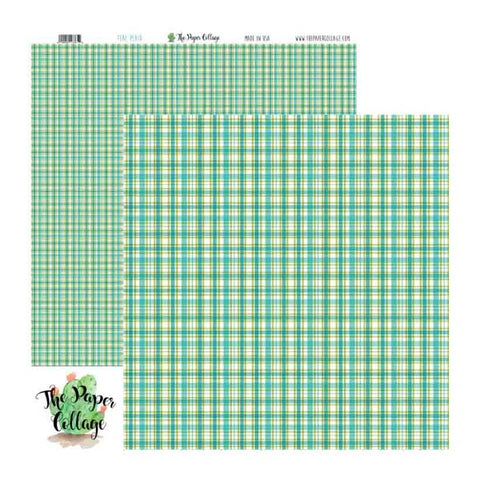 Teal Plaid Paper