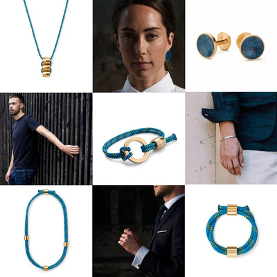 How to wear blue jewellery
