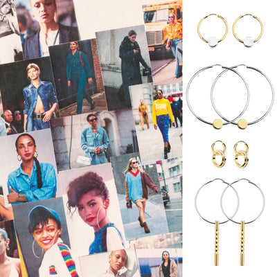 How to wear our new hoop earrings