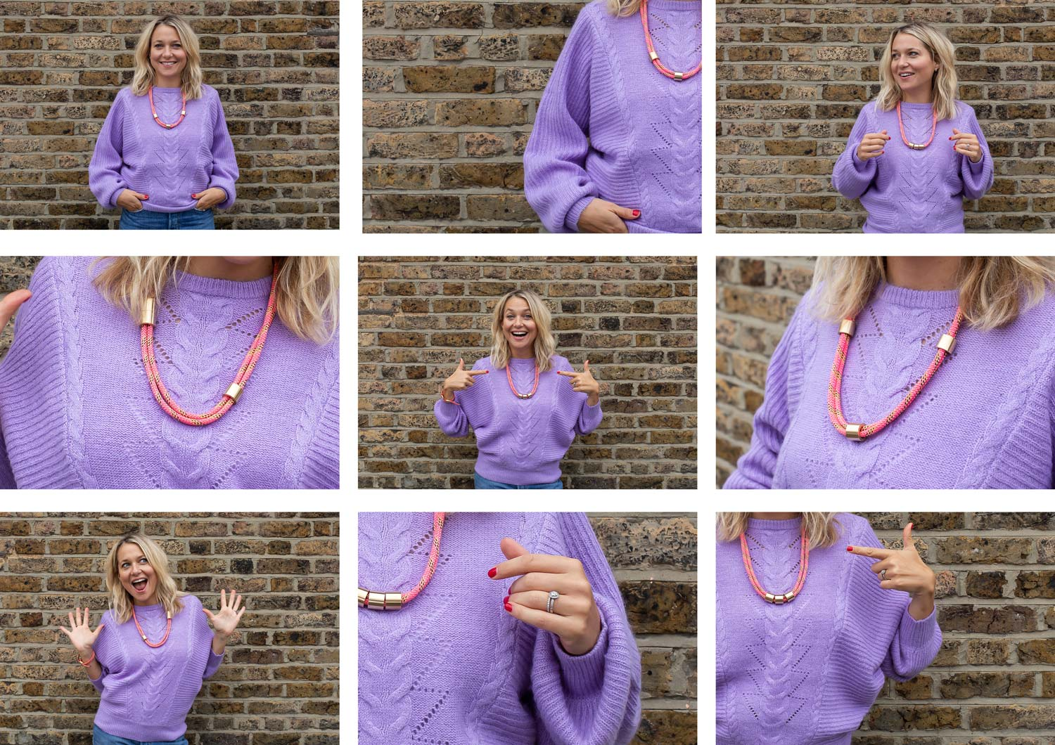 How to wear Alice Made This necklaces