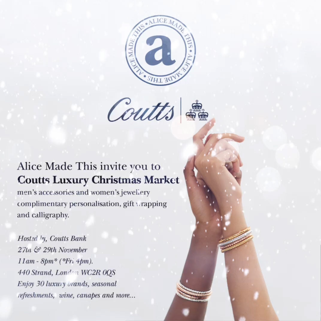 Alice Made This | coutts christmas market