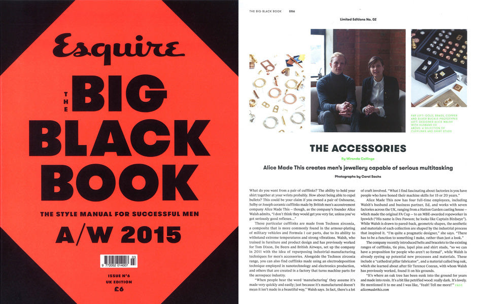 Esquire Big Black Book | Alice Made This