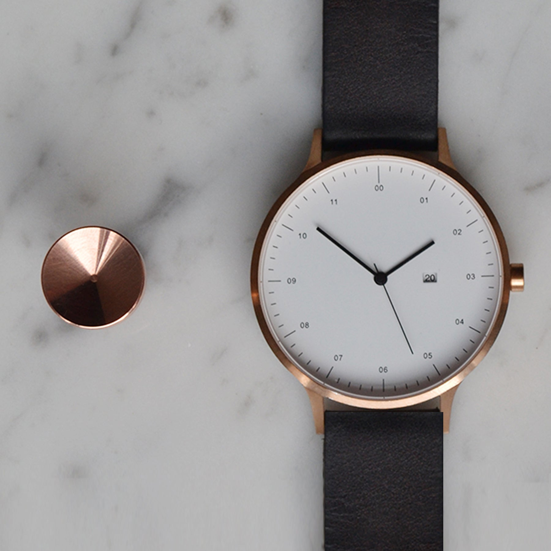 Copper cufflinks | Alice Made This | Instrmnt