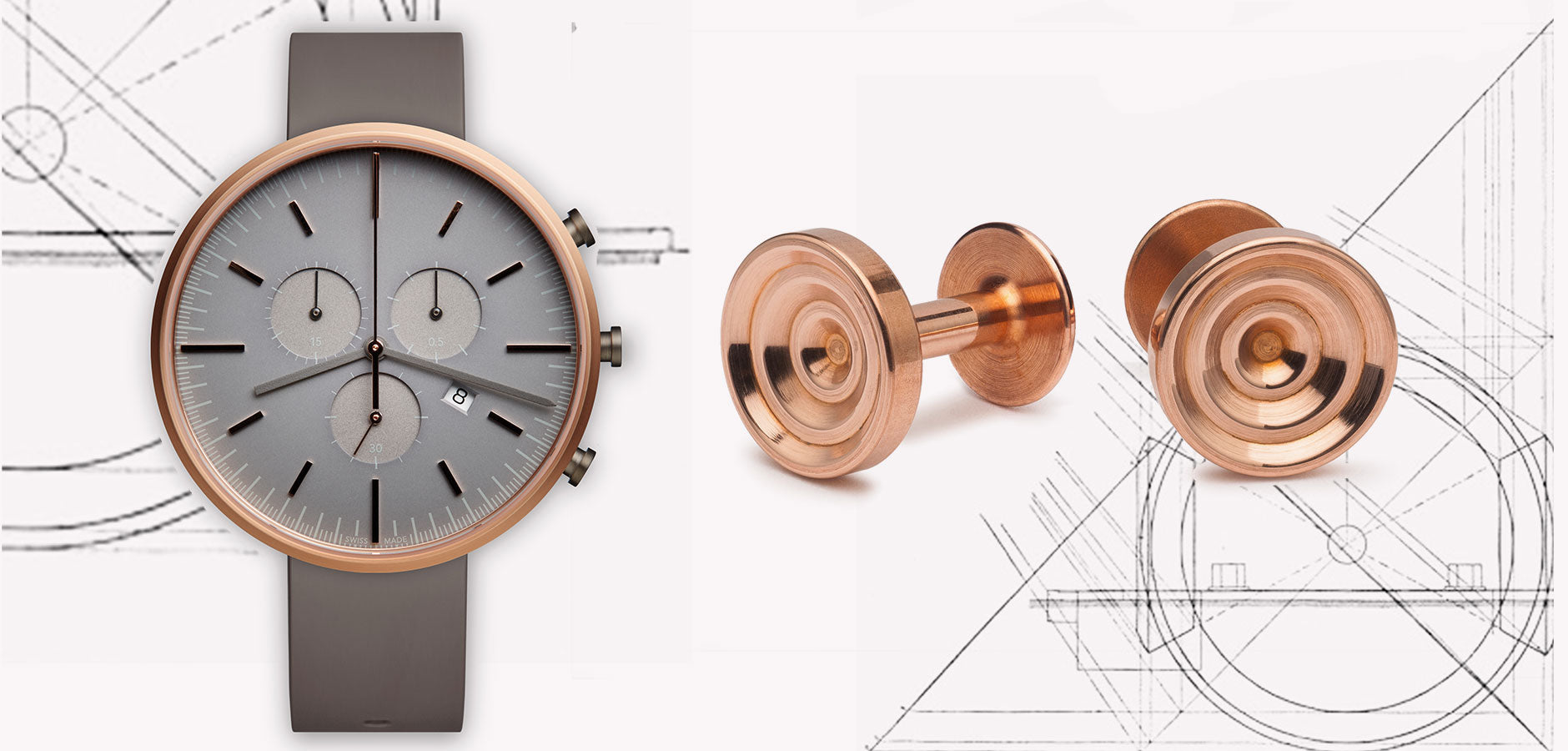 Copper cufflinks | Alice Made This | Copper watch | Uniform Wares