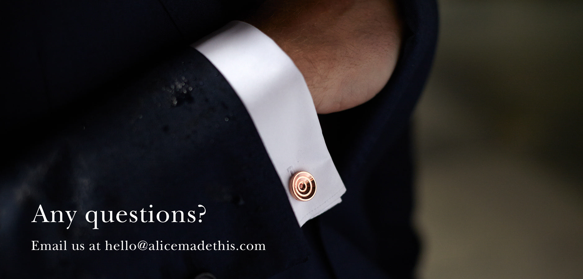 Copper cufflinks | Alice Made This | Useful Information