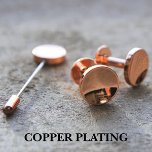 Copper cufflinks | Copper lapel pin | Alice Made This