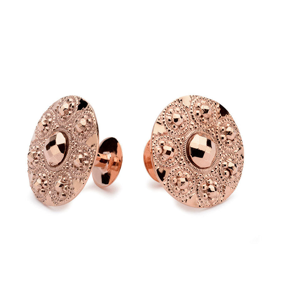 Rose gold cufflinks | Alice Made This | Augustine