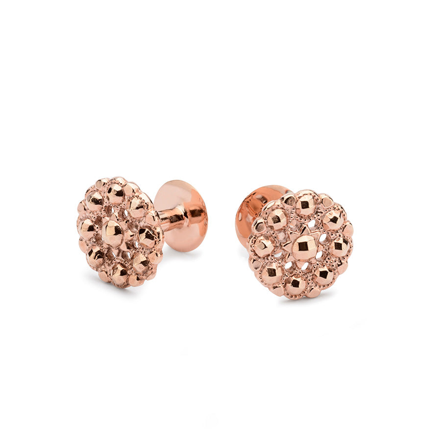 Rose gold cufflinks | Alice Made This | Kendall