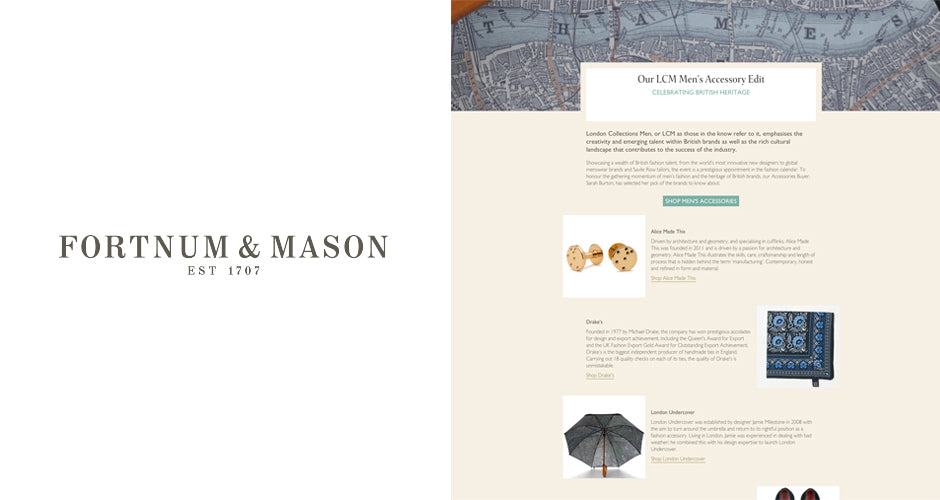 Gold cufflinks | Alice Made This | Fortnum & Mason