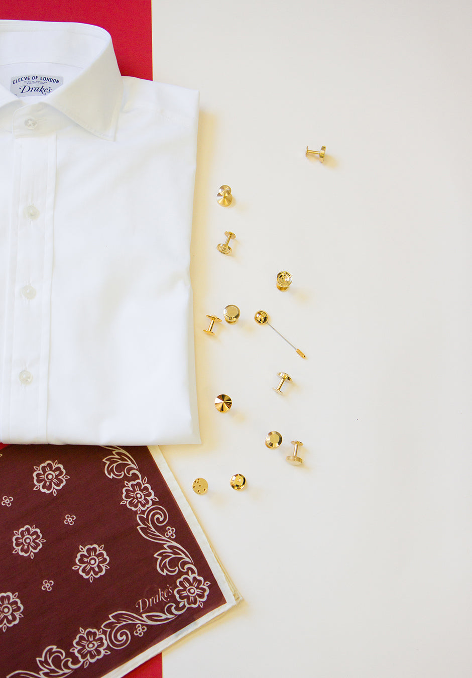 Gold cufflinks | Gold lapel pins | Alice Made This