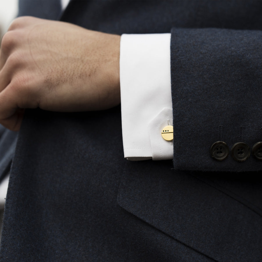 Gold plated cufflinks | Benedict & Orde