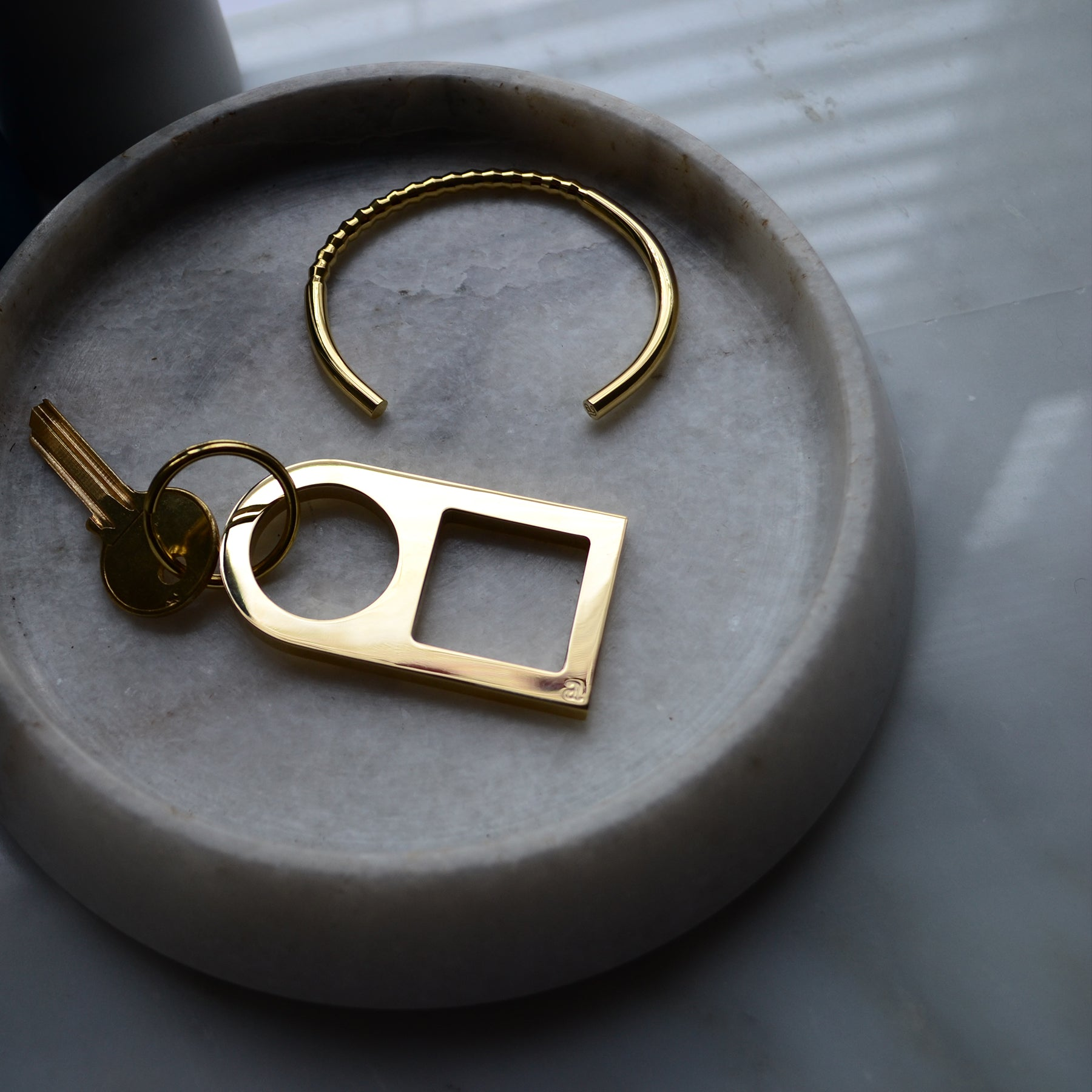 Brass key ring | Brass bracelet | Steel key ring | Alice Made This