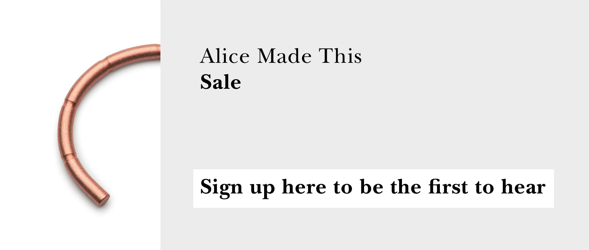 Alice Made This sale