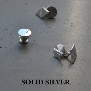 Silver cufflinks | Silver lapel pin | Alice Made This