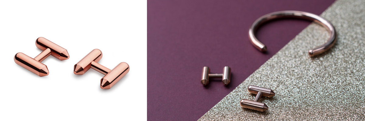 copper cufflinks | top gifts for men