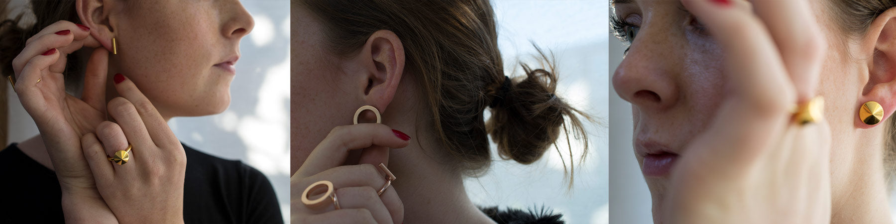 minimal jewellery | graphic earrings | designer earrings | valentines gifts for her