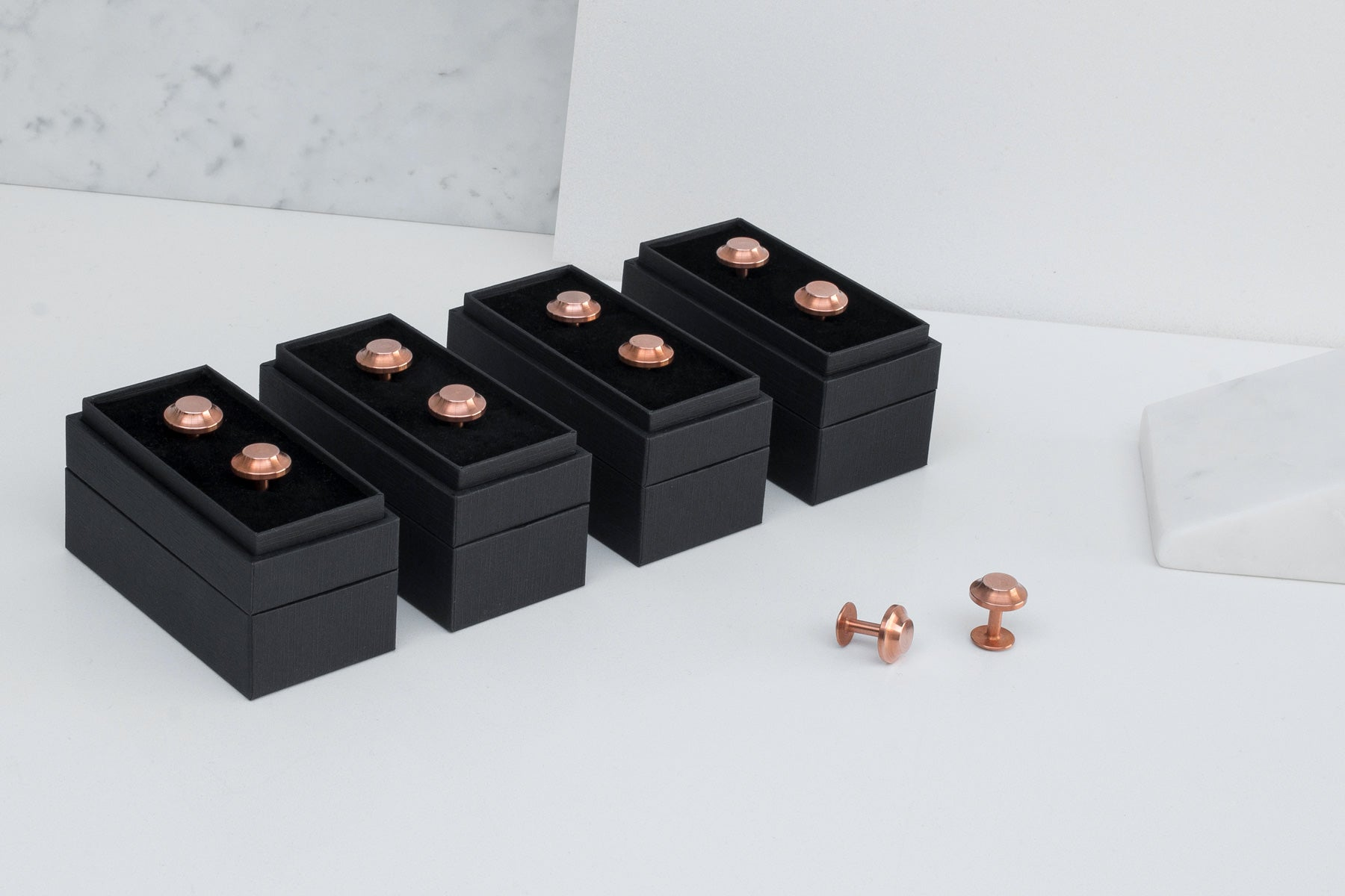 copper wedding cufflinks