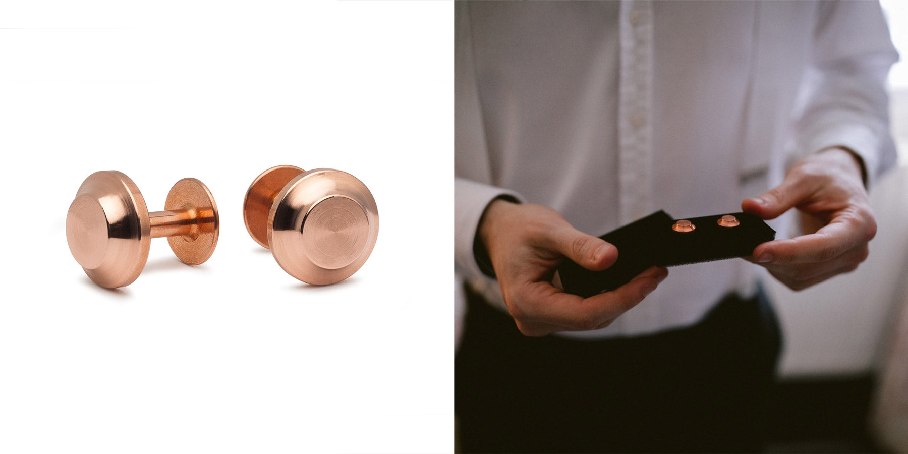 copper cufflinks | Alice Made This