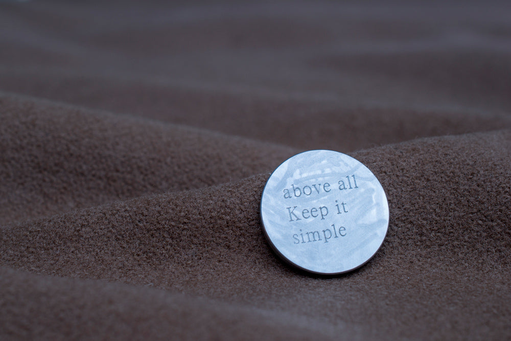 engraved silver lapel pin | Alice Made This