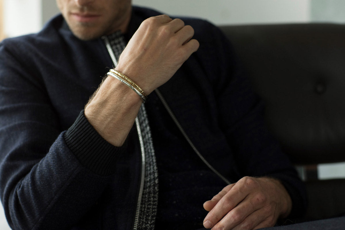 mens_brass_silver_bracelets_loobook_journal