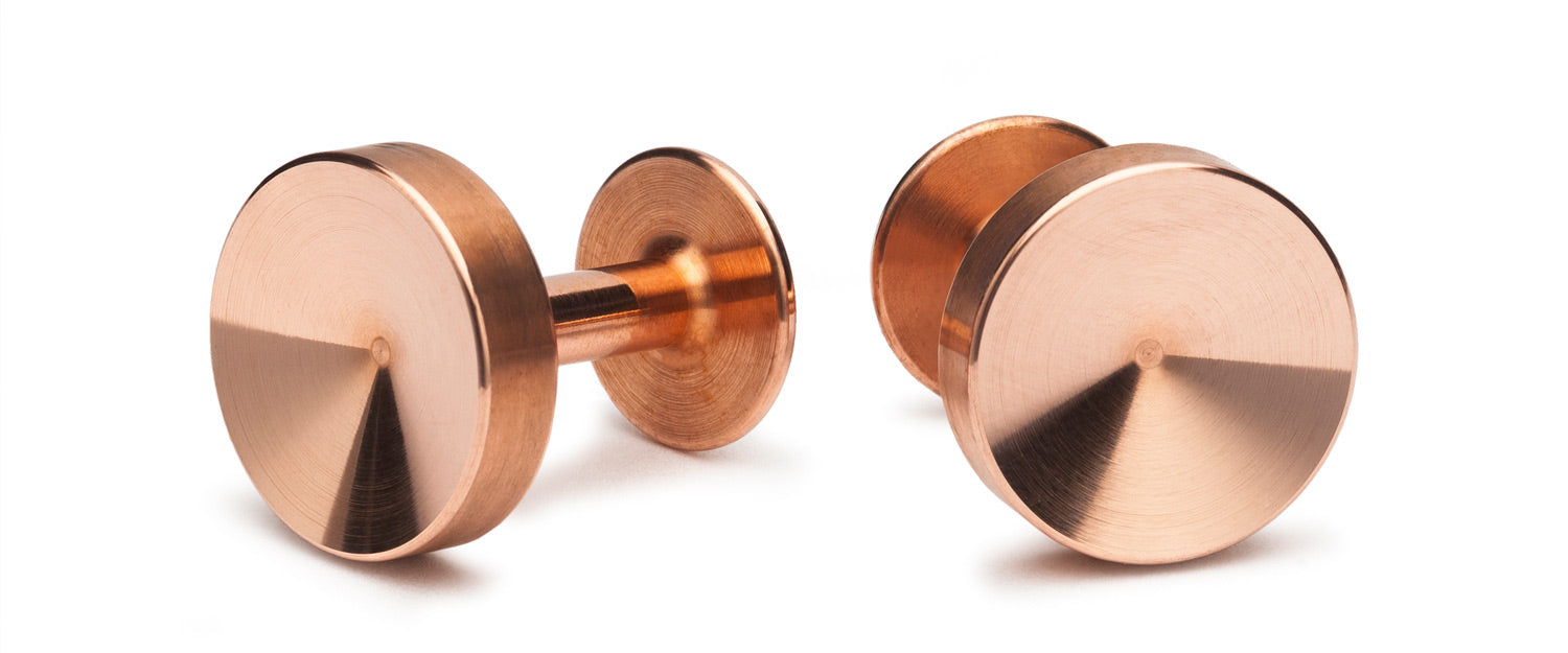 copper cufflinks | job interview cufflinks | Alice Made This