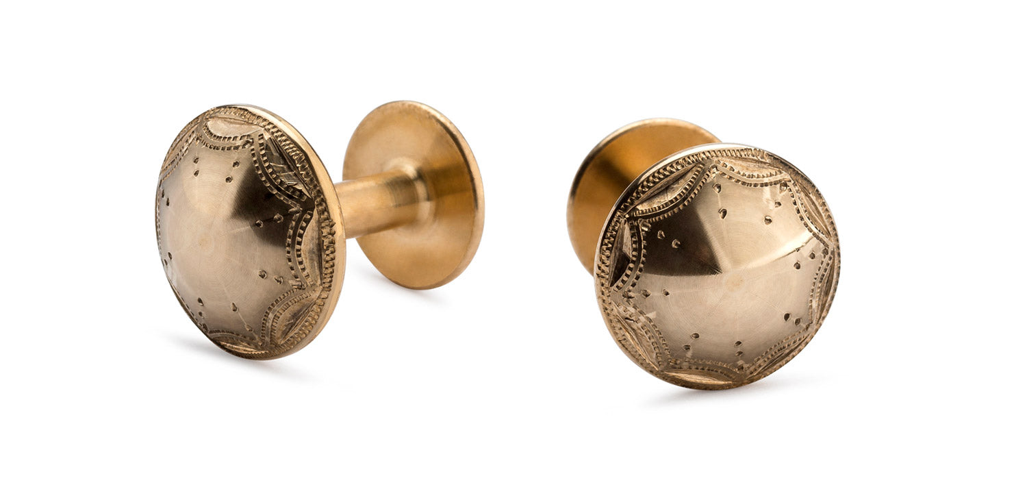 gold cufflinks | Alice Made This cufflinks