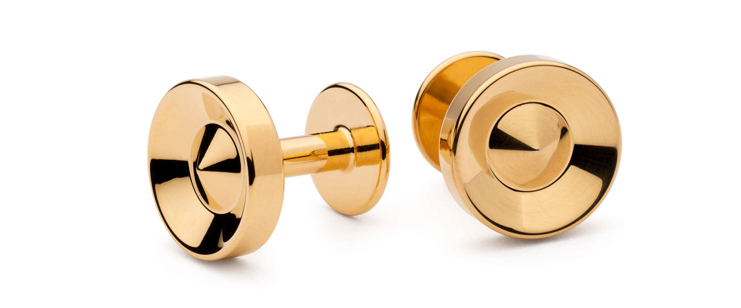 gold cufflinks | party cufflinks | Alice Made This