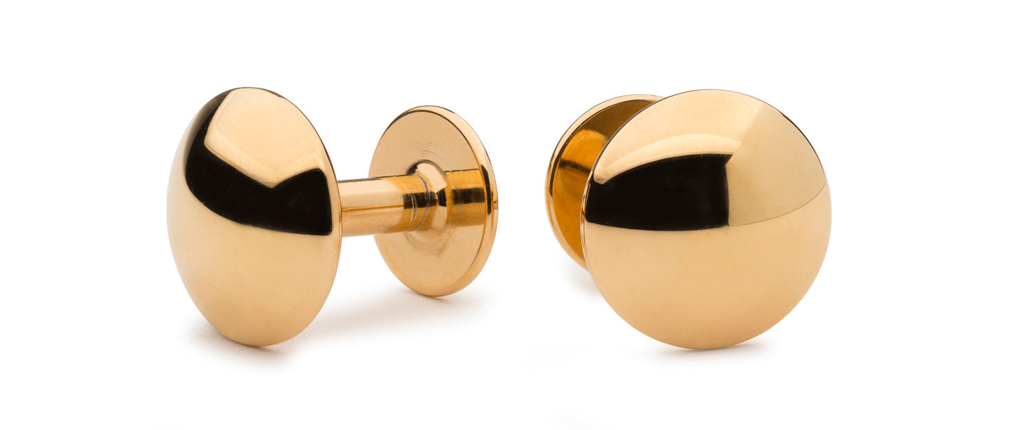 gold cufflinks | date night cufflinks | Alice Made This