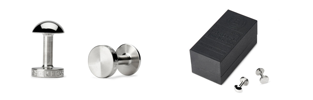 steel cufflinks | Alice Made This cufflinks | mens' jewellery
