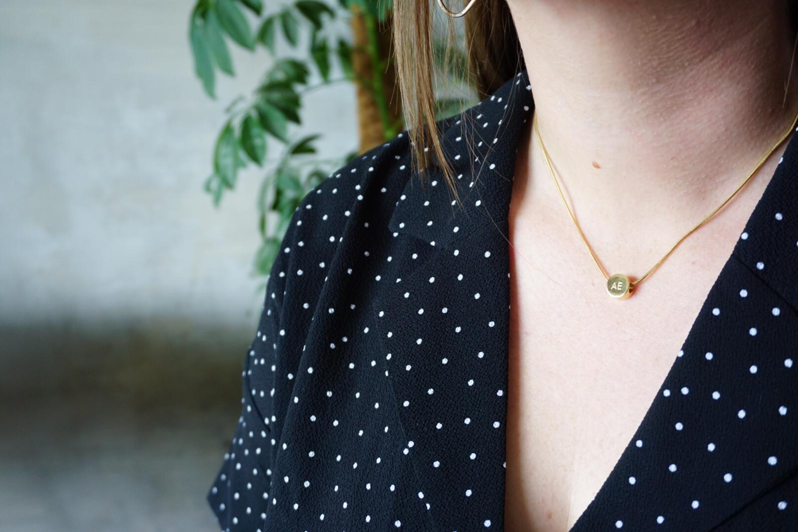 my amt | amelia from shropshire wears Alice Made This engraved gold necklace