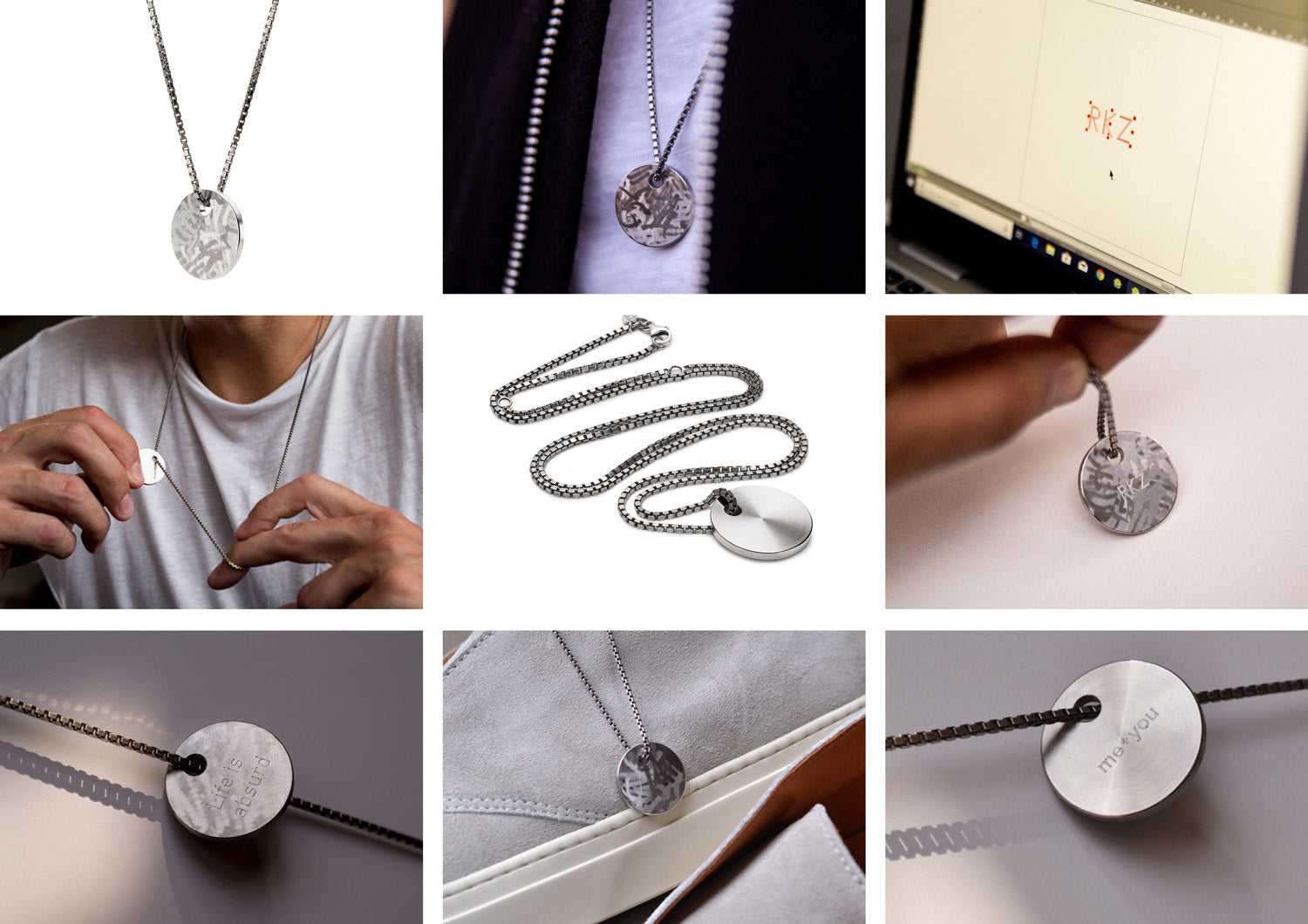 men's personalised necklaces | Alice Made This