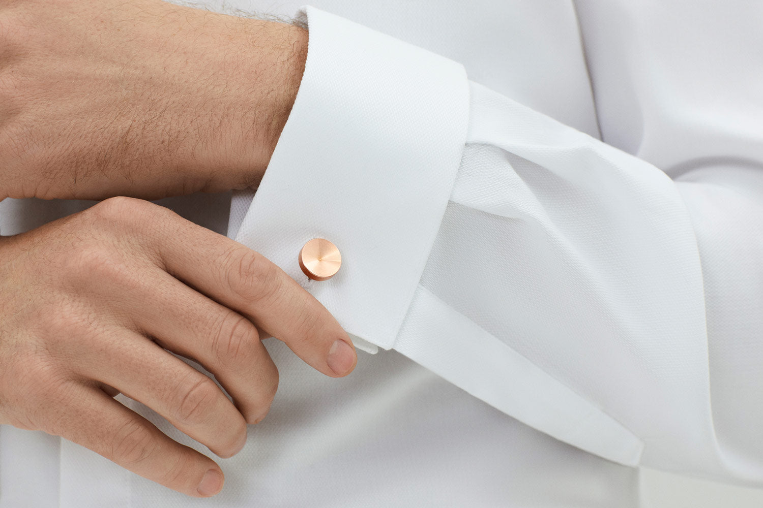 precision jewellery | mens copper cufflinks | Alice Made This