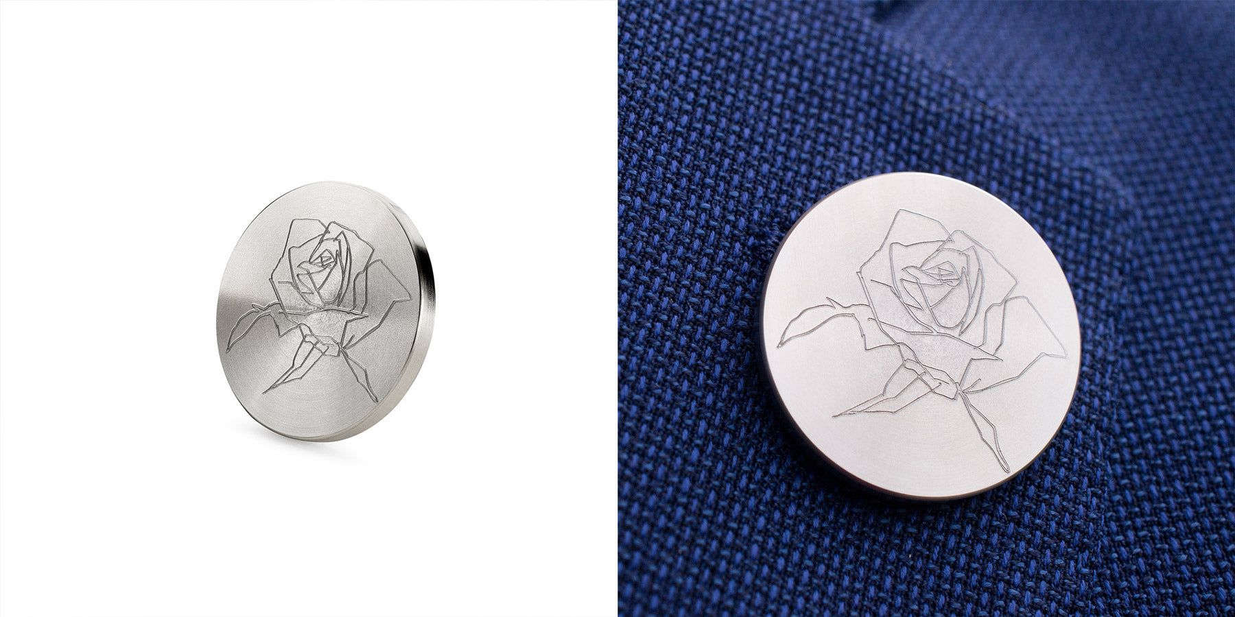 rose engraved lapel pin | Alice Made This