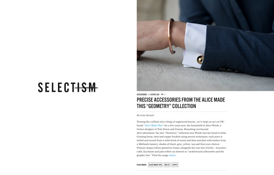 Bracelets for men | Gold cufflinks | Alice Made This