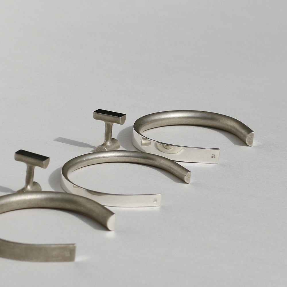 solid silver bracelets and cufflinks | inspired by architecture