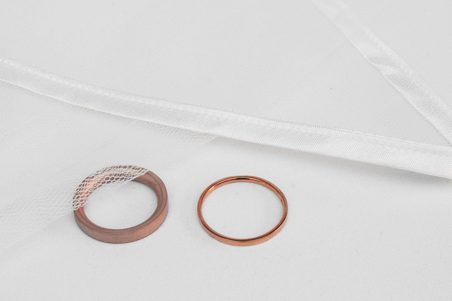 rose gold wedding rings | Alice Made This