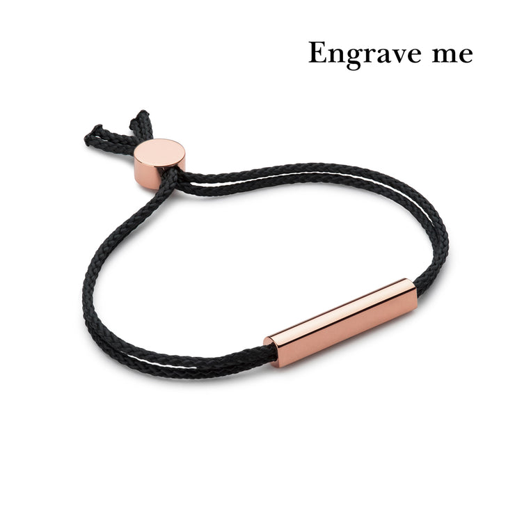 charlie black and rose gold bracelet