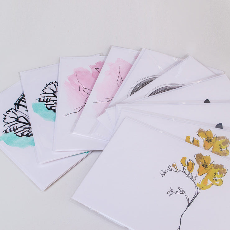 10 greeting cards | hand-painted | made in britain