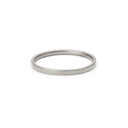 18 carat white gold blasted wedding ring
