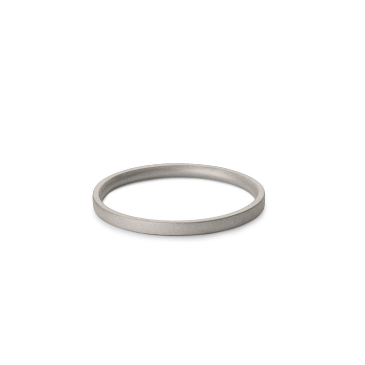 white gold matte wedding ring