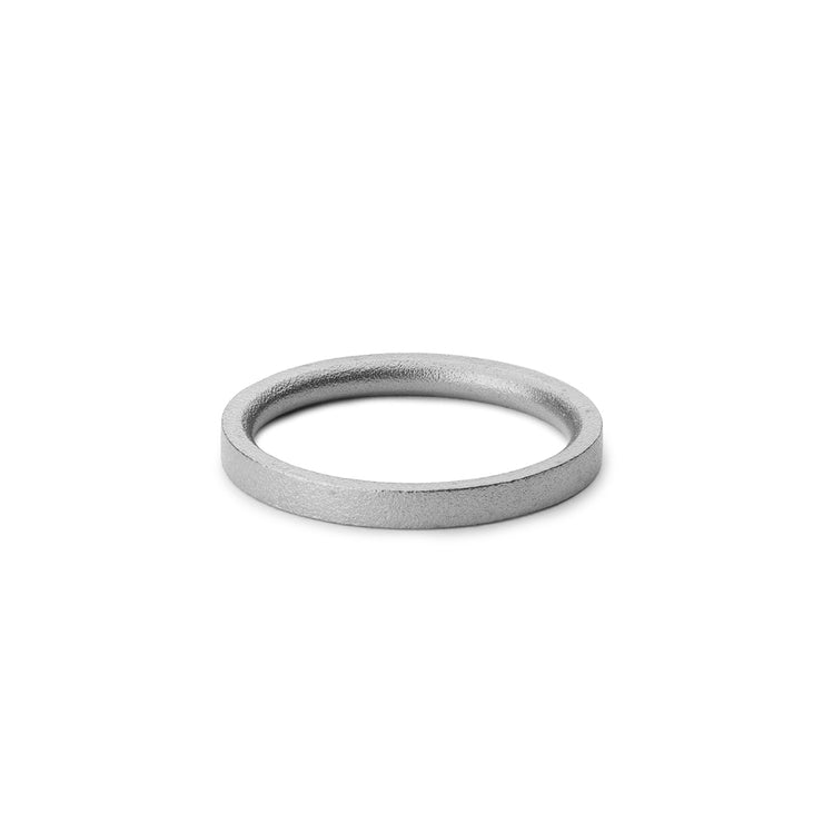 3mm blasted platinum wedding ring | wedding band