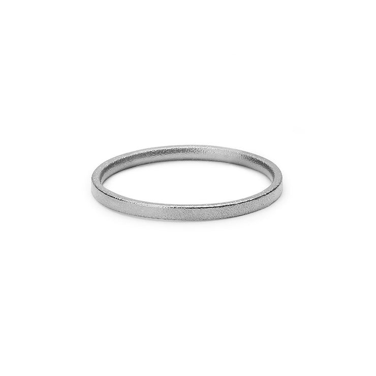platinum blasted wedding ring